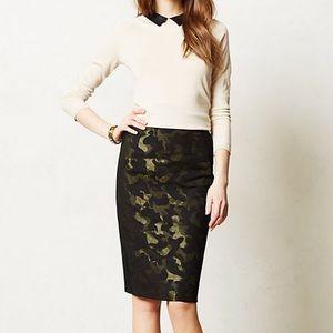 Anthropologie (Maeve) camo pencil skirt